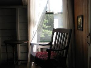 empty chair window