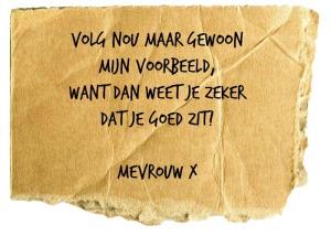 mevrouw X